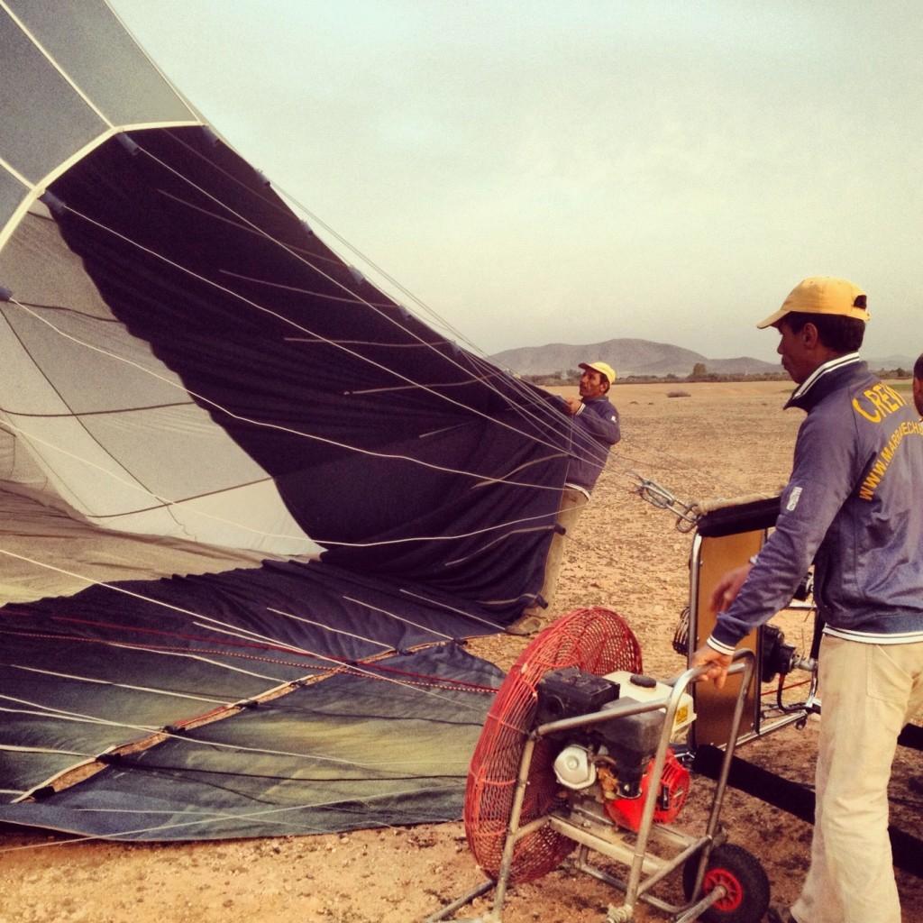 Hot Air Balloon in the desert