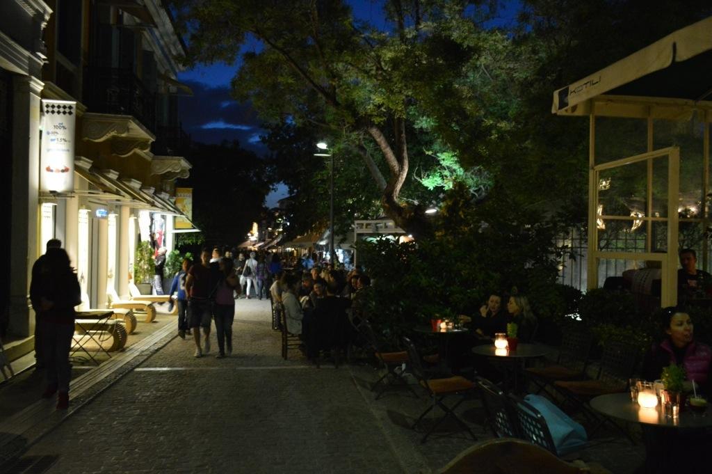 Athens by night, from Monastiraki to Gazi