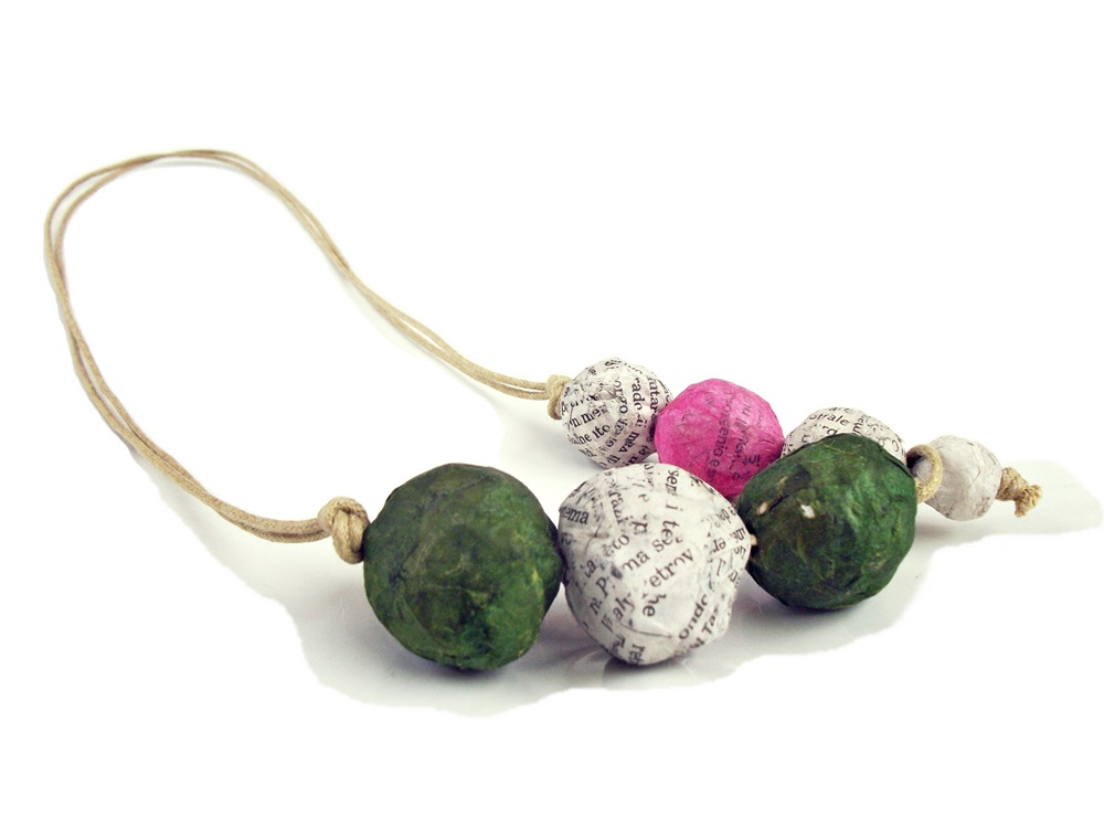 seven pink and olive - collana