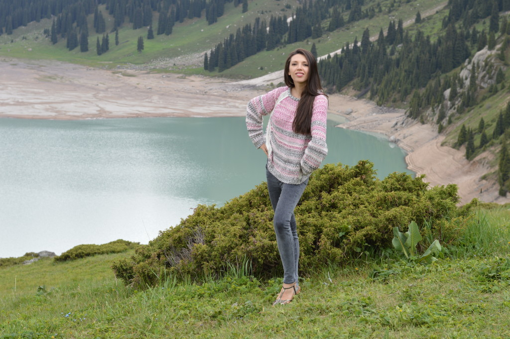 The amazing view of Big Almaty Lake