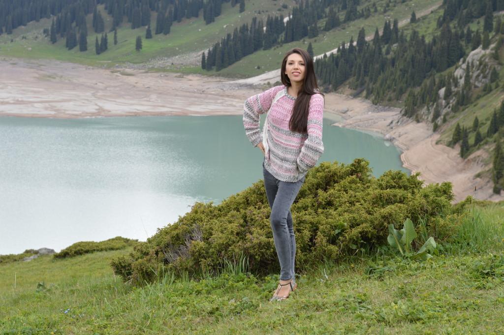 The amazing view of Big Almaty Lake