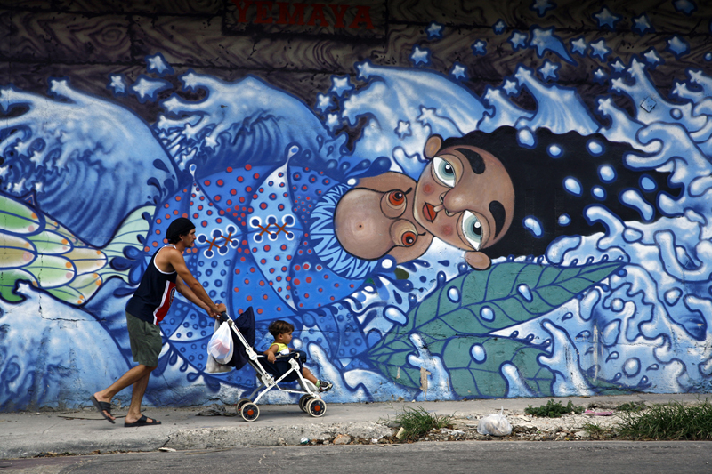 The child within Victor Mora, Cuban artist